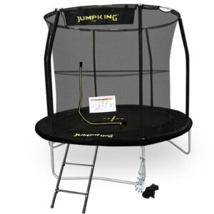 Deluxe Combo Backyard Trampoline with Safety Enclosure JumpKing Size: 8 Ft.
