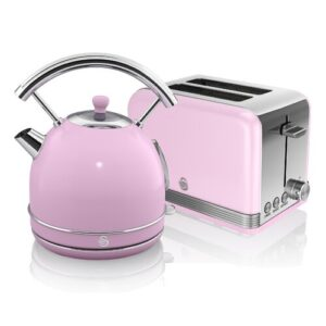 Dome 1.8L Stainless Steel Electric Kettle Swan Colour: Pink