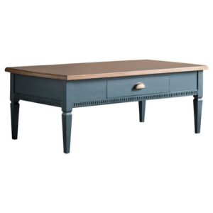 Eliora Coffee Table with Storage Longshore Tides Colour (Table Base): Deep Blue