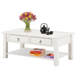 Embry Coffee Table Brambly Cottage Colour (Table Top): White, Colour (Table Base): White