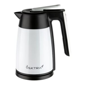 Environmentally Eco Friendly 1.7L Stainless Steel Electric Kettle Vektra Colour: White
