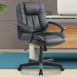 Executive Swivel Office Chair Symple Stuff Colour: Brown