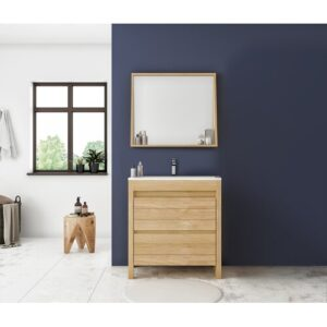 Farley 795 mm Bathroom Furniture Suite with Mirror Gracie Oaks