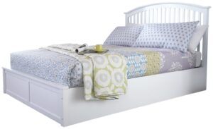 GFW Madrid Ottoman Kingsize Bed Frame - White