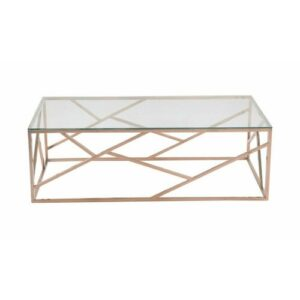 Gillian Coffee Table Canora Grey Colour (Table Base): Rose Gold
