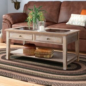 Grizzly Hill Coffee Table with Storage Union Rustic