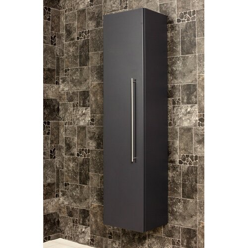 HS 35 x 150cm Wall Mounted Cabinet Belfry Bathroom Finish: Anthracite Semi Gloss