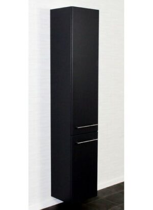 HS 35 x 180cm Wall Mounted Cabinet Belfry Bathroom Finish: Black Semi Gloss