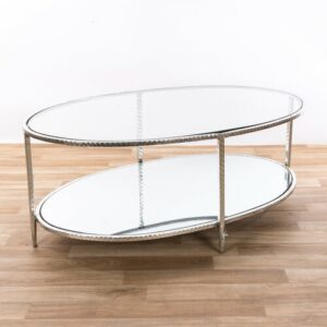 Harva Coffee Table with Storage Canora Grey Colour: Silver