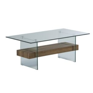 Hufnagel Glass Coffee Table Mercury Row Colour (Table Base): Brown
