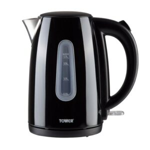 Infinity Stainless Steel Electric Kettle Tower Colour: Cream, Size: 22cm H x 21cm W x 20cm D