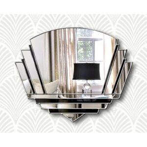 Isabell Overmantle Mirror Canora Grey Finish: Black/Silver