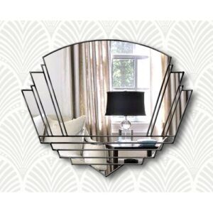 Isabell Overmantle Mirror Canora Grey Finish: Clear/Black