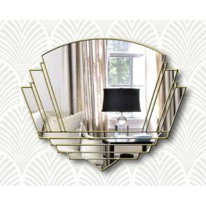 Isabell Overmantle Mirror Canora Grey Finish: Clear/Gold