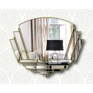 Isabell Overmantle Mirror Canora Grey Finish: Grey/Gold