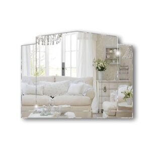 Jaliyah Overmantle Mirror Canora Grey Finish: White
