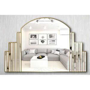 Kari Overmantle Mirror Canora Grey Finish: Gold