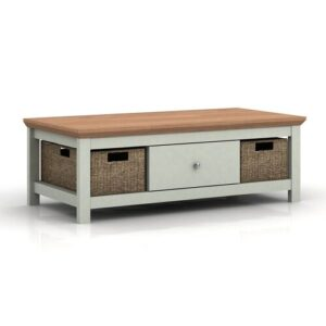 Katerine Coffee Table with Storage Brambly Cottage Colour (Table Base): Grey