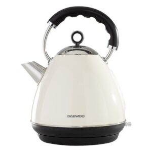 Kensington 1.7L Stainless Steel Electric Kettle Daewoo Colour: Cream