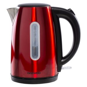 Kensington 1.7L Stainless Steel Electric Kettle Daewoo Colour: Red/Black