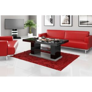 Kevin Extendable Coffee Table Ebern Designs Colour: High-gloss black