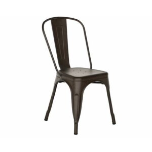 Liliana Dining Chair Borough Wharf Colour: Gunmetal Matte
