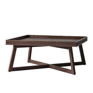 Martel Coffee Table Bay Isle Home Colour: Brown