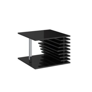 Matteo Coffee Table Wade Logan Colour: Black Gloss