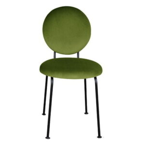 Medallion Upholstered Dining Chair Happy Barok Upholstery Colour: Olive