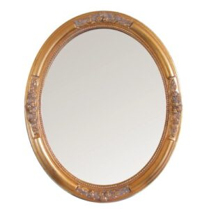 Mirror Lily Manor Size: 77cm H x 57cm W x 5cm D, Finish: Gold