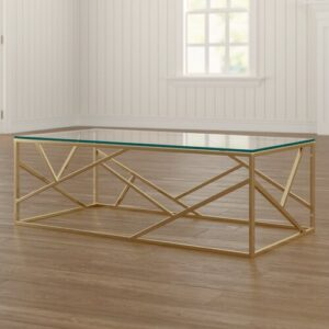 Occasional Coffee Table Canora Grey Base Finish: Gold