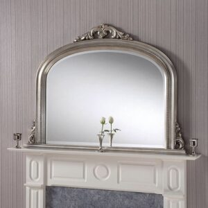 Orme Overmantle Mirror Rosalind Wheeler Finish: Silver