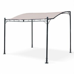 Osborne 2.5m x 3m Steel Wall-Mounted Gazebo Sol 72 Outdoor Colour (Roof): Brown