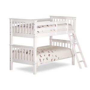 Oxford White Wooden Bunk Bed Frame - 3ft Single