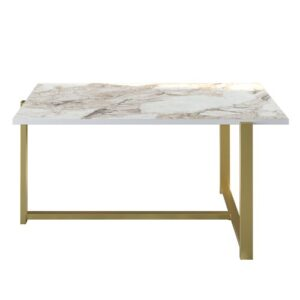 Pearsall Coffee Table Blue Elephant Table Top Colour: Ephesus, Table Base Colour: Gold
