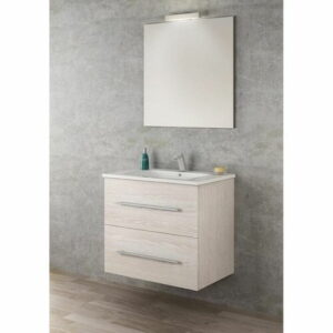 Rafferty 700mm Wall Hung Single Vanity Unit Belfry Bathroom Vanity Unit Colour: Taiga