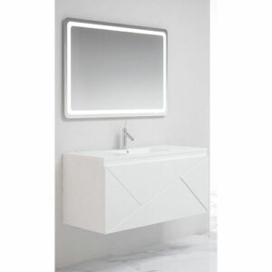 Remus 1000mm Wall Hung Single Vanity Belfry Bathroom Vanity Unit Colour: White/White