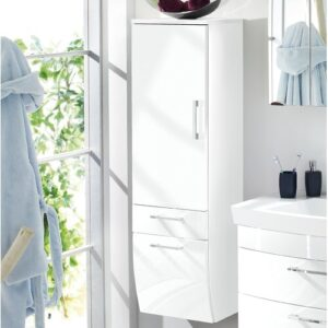 Rima 40 x 134.5cm Wall Mounted Cabinet Belfry Bathroom Colour: White