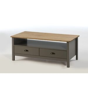 Riverland Coffee Table with Storage August Grove Colour: Grey