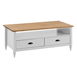 Riverland Coffee Table with Storage August Grove Colour: White
