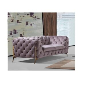 Rocky 2 Seater Chesterfield Sofa Rosdorf Park Upholstery Colour: Silver