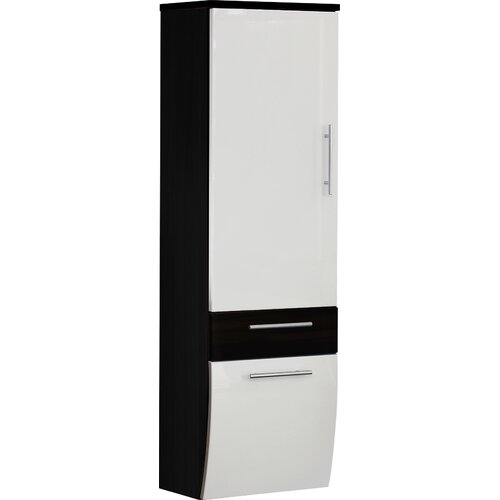 Salona 40 x 134.5cm Wall Mounted Cabinet Belfry Bathroom Finish: Anthracite / White