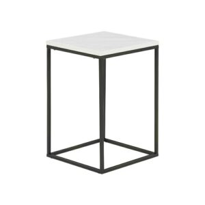 Salvatore Side Table Langely Street Colour: White Faux Marble