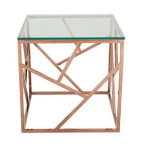 Side Table Canora Grey Finish: Rose Gold