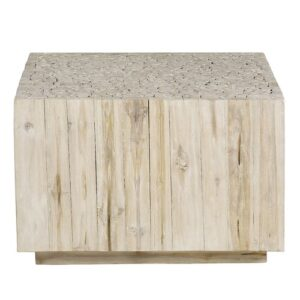 Sidwell Coffee Table Blue Elephant Colour: White Wash