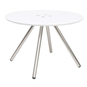 Sliced Coffee Table Leitmotiv Colour: White Grey Accents