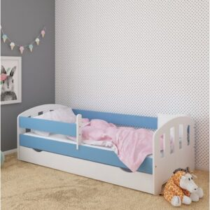 Sofia Bed with Drawer Kiki Design Lying surface: 90 x 180 cm, Bed Frame Colour: Blue