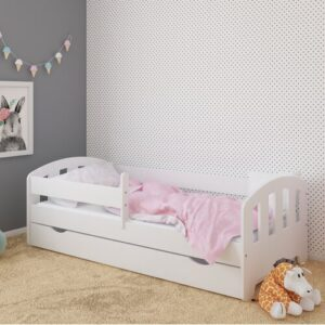 Sofia Bed with Drawer Kiki Design Lying surface: 90 x 180 cm, Bed Frame Colour: White