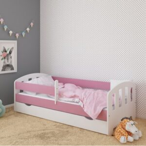 Sofia Bed with Drawer Kiki Design Lying surface: European Toddler (80 x 160 cm), Bed Frame Colour: Pink