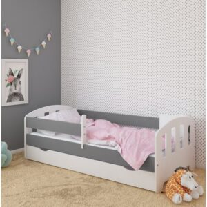 Sofia Bed with Drawer Kiki Design Lying surface: Toddler (70 x 140 cm), Bed Frame Colour: Grey/Brown/Blue